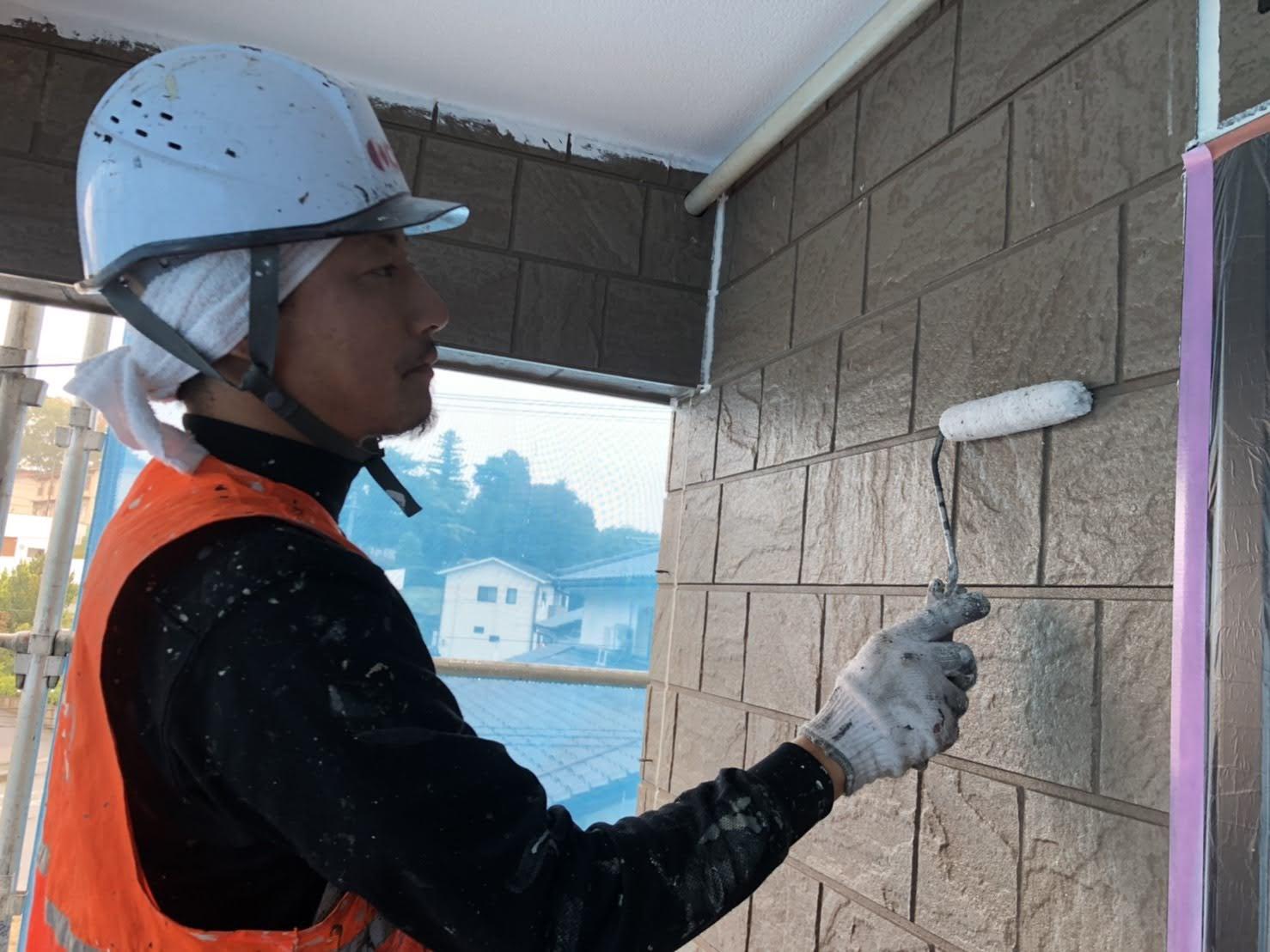 【伊達郡】某アパート 屋根外壁他塗装工事