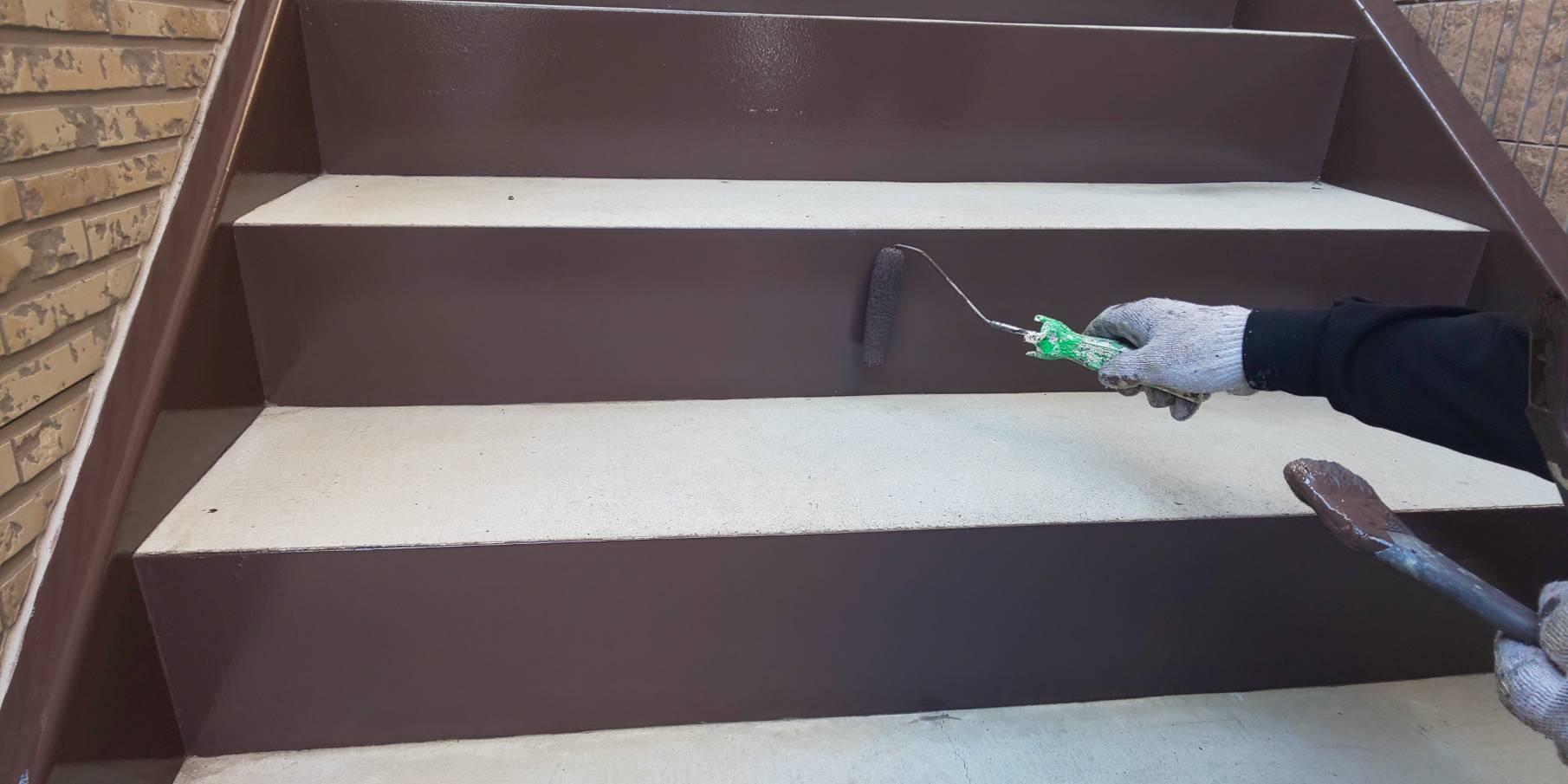 【福島市】某アパート 鉄骨塗装