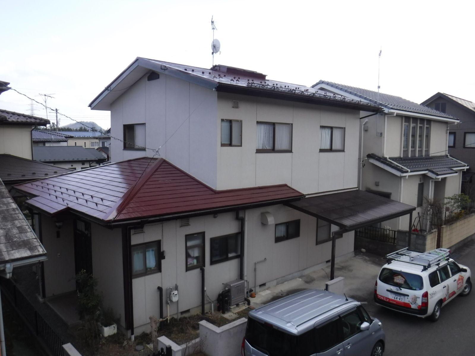 【福島市】S様邸 屋根塗装工事